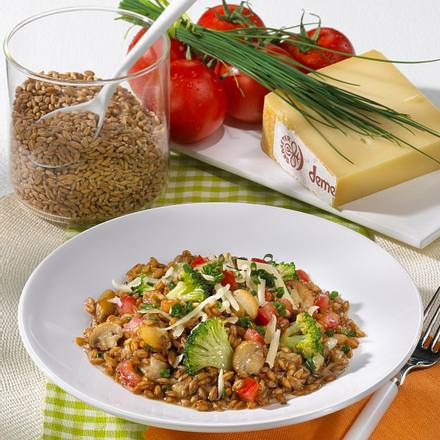 Dinkel-Gemüse-Risotto Rezept