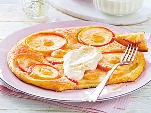 Dinkelpfannkuchen mit Äpfeln Rezept