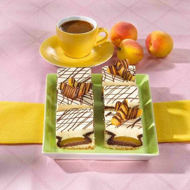 Donauwellen-Aprikosen-Kuchen Rezept