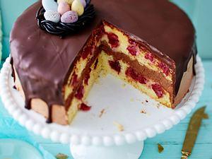 Donauwellen-Torte mit Schoko-Joghurt-Mousse Rezept