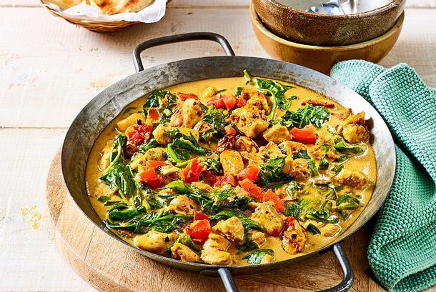 Don't Worry, Just Curry: Kokos-Puten-Pfanne Rezept