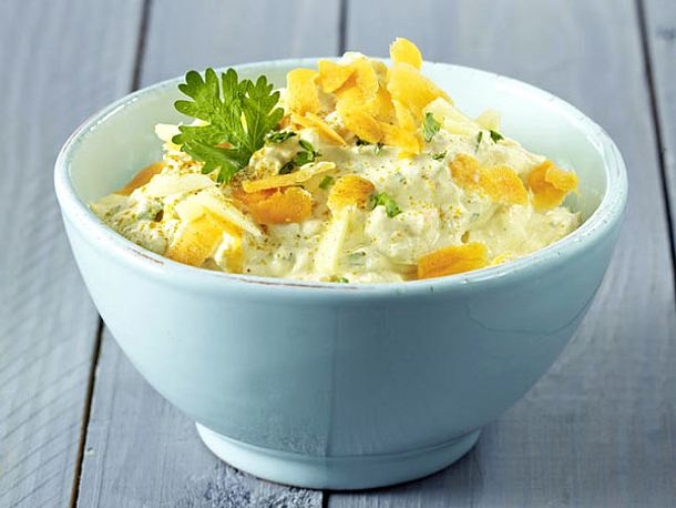 Doppelrahm-Frischkäse-Aufstrich mit Curry, Ingwer, Möhre und Koriander Rezept