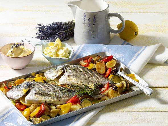 Dorade auf mediterranem Gemüse Rezept
