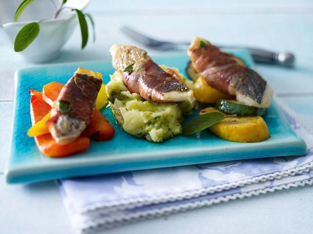 Dorade-Saltimbocca mit Grill-Gemüse Rezept