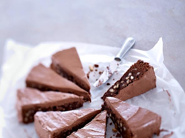 Double Choco Cake mit Macadamia Rezept