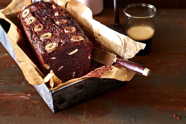 Double-Chocolate-Bread mit Bananen Rezept