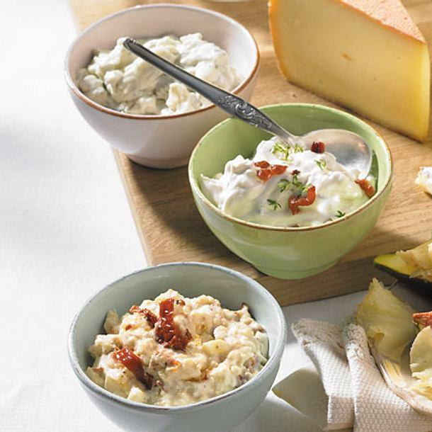 Dreierlei Käse-Dips Rezept