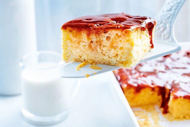 Dreierlei Milchkuchen mit Karamellguss Rezept