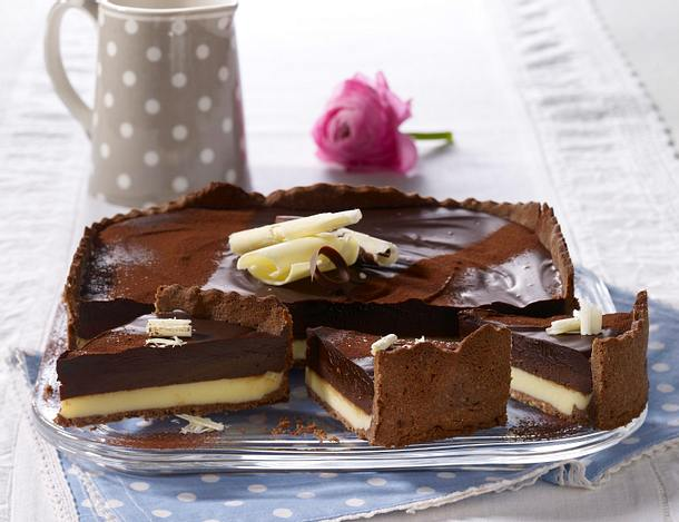 Dreierlei Schokoladentarte Rezept