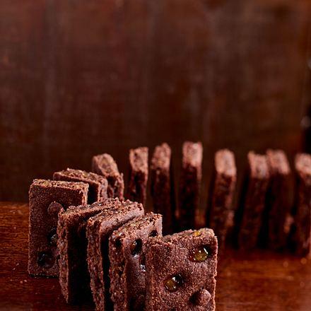 Dunkle Linzer Fruchtschnitten (Domino) Rezept