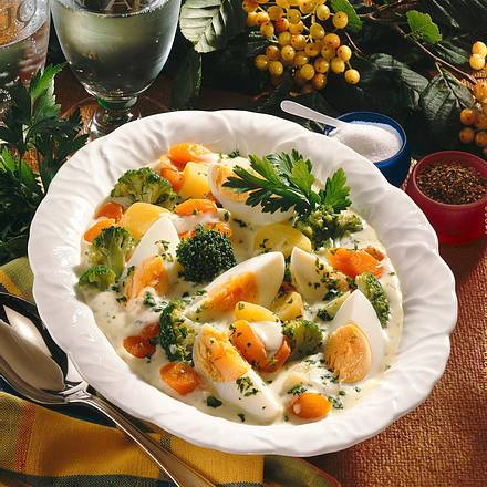 Eier-Frikassee mit Broccoli Rezept