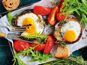 Eier im Portobellonest Rezept