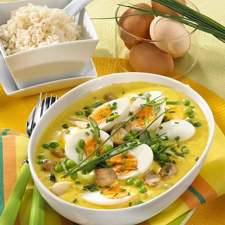 Eier in Gemüse-Curry Rezept