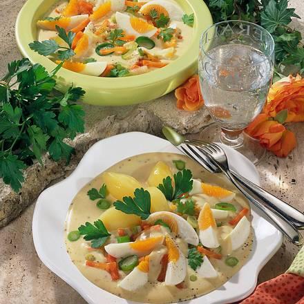 Eier in Gemüse-Senfsoße Rezept