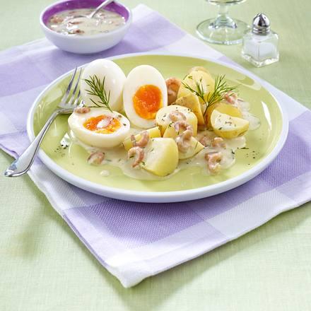 Eier in Krabben-Dill-Soße Rezept