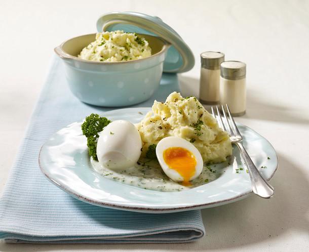 Eier in Petersiliensoße Rezept