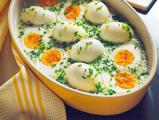 Eier in Schnittlauchsoße Rezept