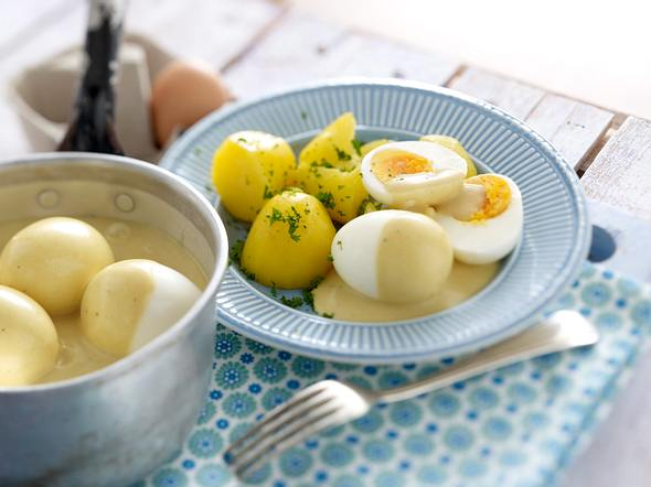 Eier in Senfsoße Rezept