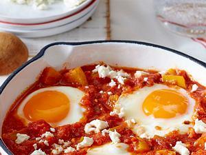 Eier in Tomatensoße Rezept