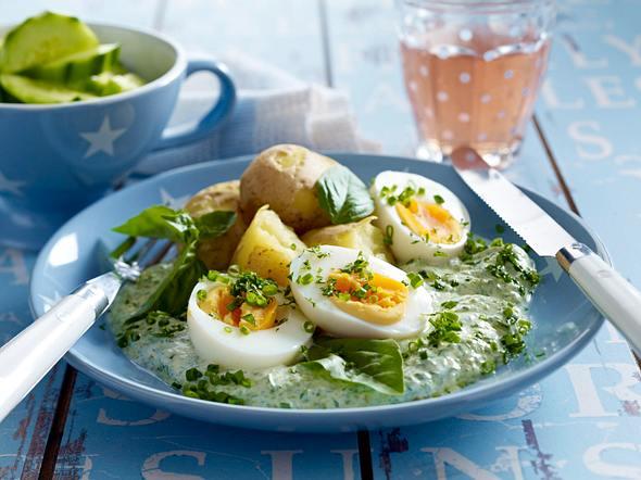 Eier mit grüner Soße Rezept