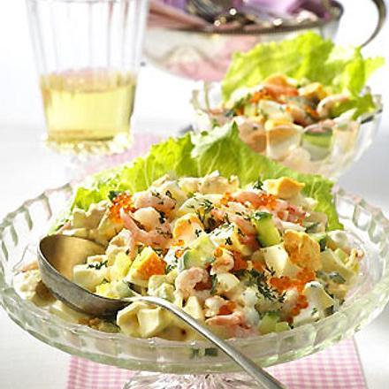 Eier-Salat mit Shrimps Rezept