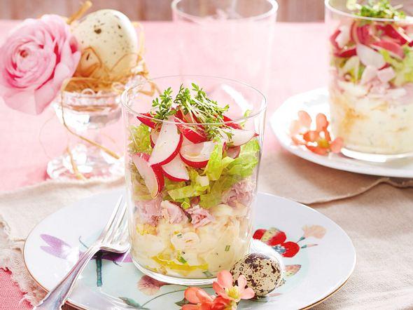 Eier-Schinken-Schichtsalat Rezept