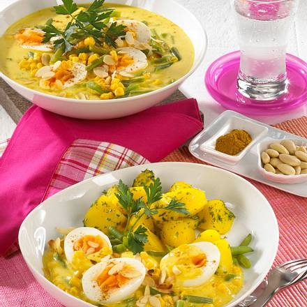 Eiercurry mit Mandeln Rezept