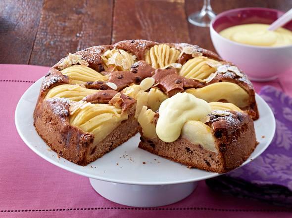 Eierlikör-Kuchen mit versunkenen Birnen Rezept