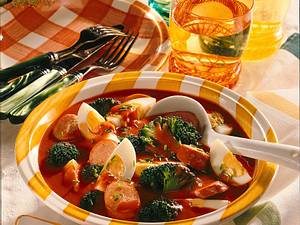 Eierragout mit Tomatensoße Rezept
