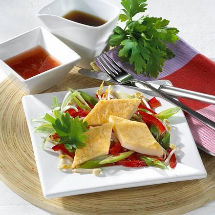 Eierrauten mit süßsaurem Salat Rezept