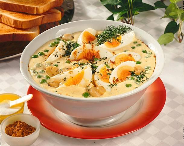 Eiersalat in Currymayonnaise Rezept