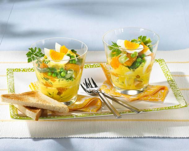 Eiersalat mit Curry-Creme Rezept