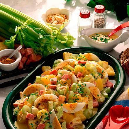 Eiersalat mit Curry- Weinbrand-Mayonnaise Rezept