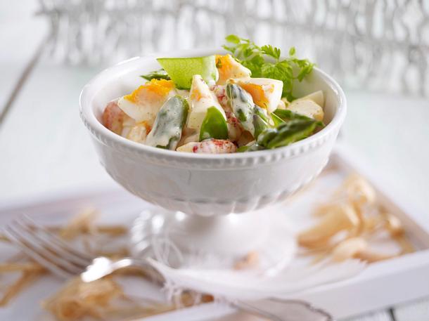 Eiersalat mit grünem Spargel Rezept