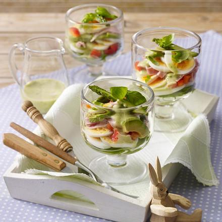 Eiersalat mit grünem Spargel (Osterbrunch) Rezept