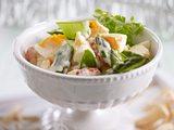 Eiersalat mit grünem Spargel & Flusskrebsen Rezept