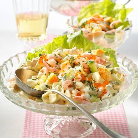 Eiersalat mit Krabben in Dillcreme Rezept
