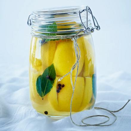 Eingelegte Salzzitronen marokkanische Art Rezept