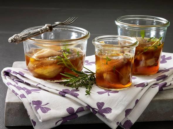Eingelegte Schalotten in Portwein Rezept
