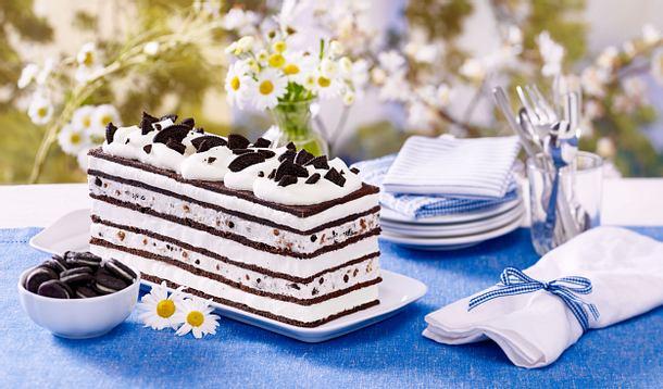 Eiscreme-Sandwich-Torte aus der Kastenform Rezept