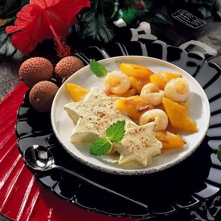 Eissterne mit karamellisierten Früchten Rezept