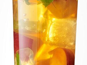 Eistee mit Pfirsich und Zitronenmelisse Rezept