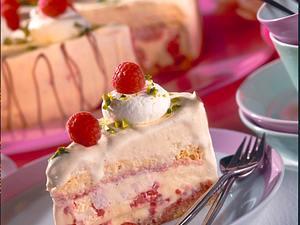 Eistorte mit Vanilleeis und Himbeeren Rezept