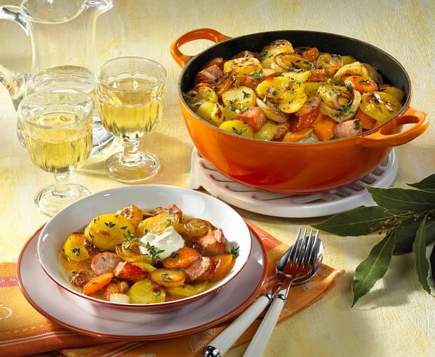 Elsässer Kartoffel-Fleisch-Topf Rezept