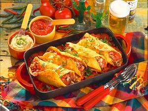 Enchiladas mit Dips Rezept