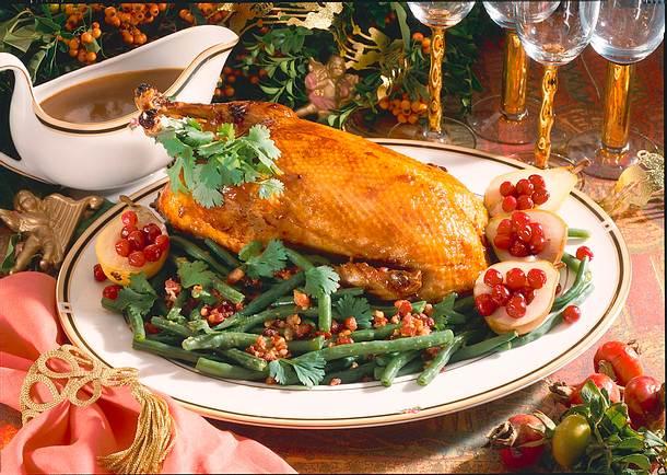 Ente auf feinem Bohnen-Koriandergemüse Rezept