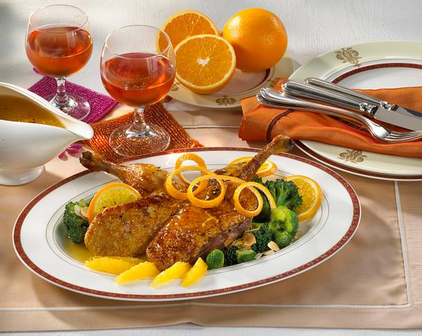 Ente à l'Orange mit Brokkoli Rezept