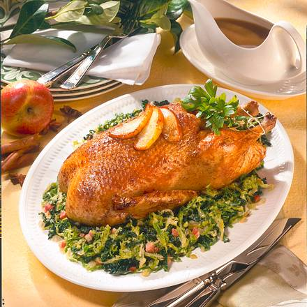 Ente mit Apfel-Zimt-Soße Rezept