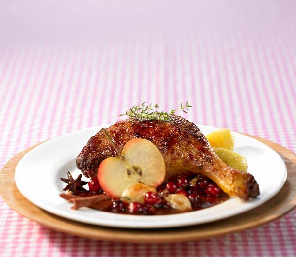 Ente mit Cranberrysoße Rezept