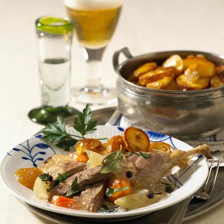 Enten-Sauerfleisch mit Bratkartoffeln Rezept